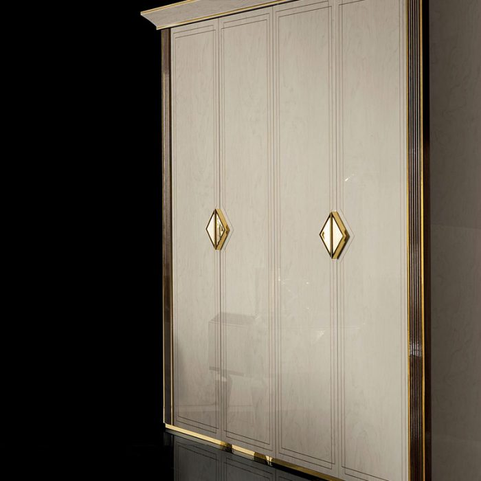 Adora Interiors Diamante Collection four doors Wardrobe