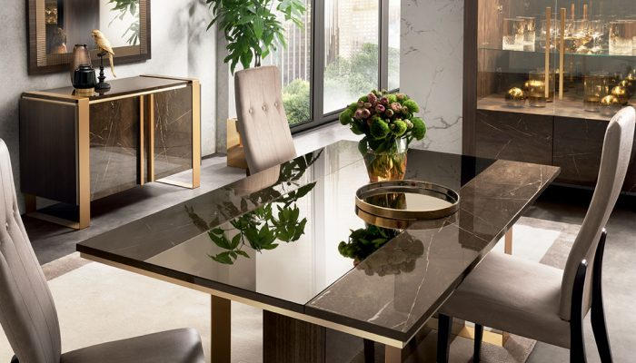 adora interiors essenza dining room table details with two doors buffet